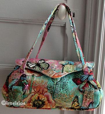 sac à main, femme, papillon, besace, cabas, fabriqué en France, fait main, Bretagne,  accessoire,