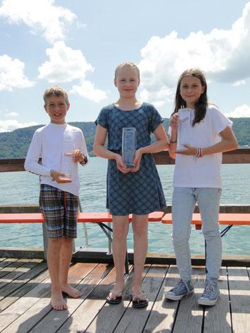 Die Top 3 beim Apfel-Cup 2019: Hannes Wehrle, Noemi Friedrich, Alison Kordic (WYC)