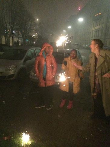Shamim und Hajra aus Tansania an Silvester in München
