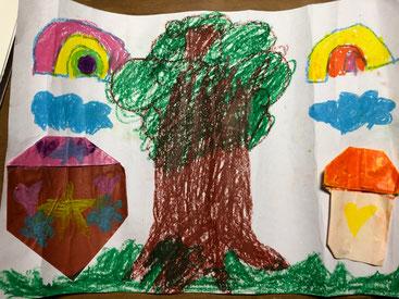 娘が描いた大きな木