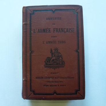 annuaire armée française 1886