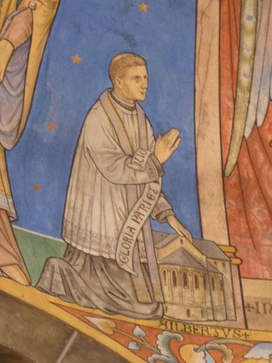 Priester Ailbertus d'Antoing - de stichter van Kloosterrade --  Abdijkerk van Rolduc - noordelijke absis priesterkoor --