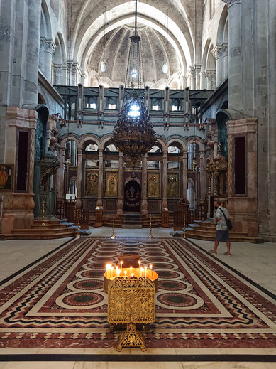 The largest chapel of the Holy Sepulchre Church called Catholicon
