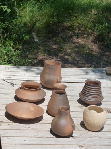 Céramiques cuites au four à bois -  Arielle Amposta-Mathivet  -