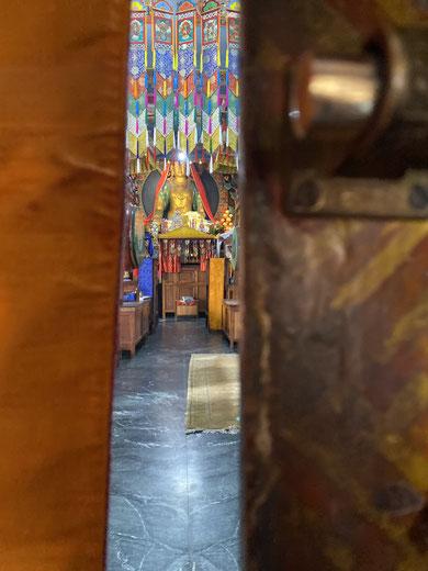 Porte du Temple de Triten Norbutse, Kathmandou