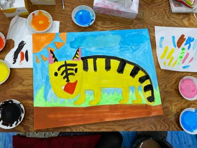 娘が描いたトラ