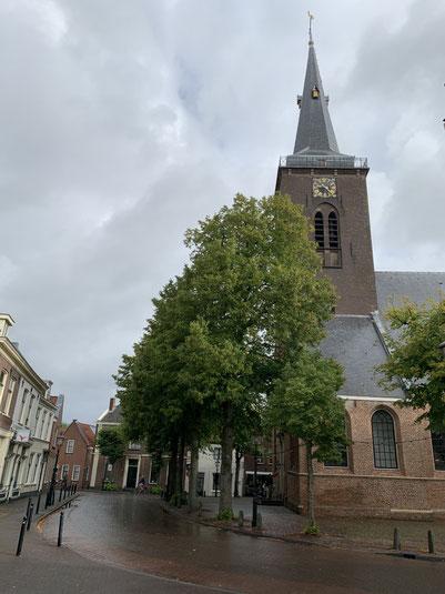 Abcoude, Vorort Amsterdams, Holland, Niederlande, Grachten, Kirche, Dorpskerk