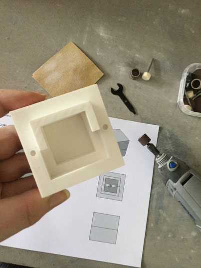 Behind the scenes, the making of a bespoke concrete jewellery box by PASiNGA design