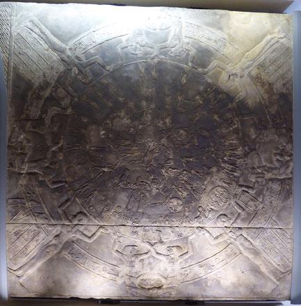 Parijs - het Louvre: Zodiak van Dendera - ca. 50 voor Christus.