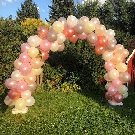 Ballonbogen zur Vermietung mit Ballons
