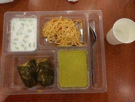 5月28日(火)東京ジャーミイでのイフタール(トルコ料理)きゅうりとヨーグルトの冷製スープ、ピラウのピーマン詰めなど
