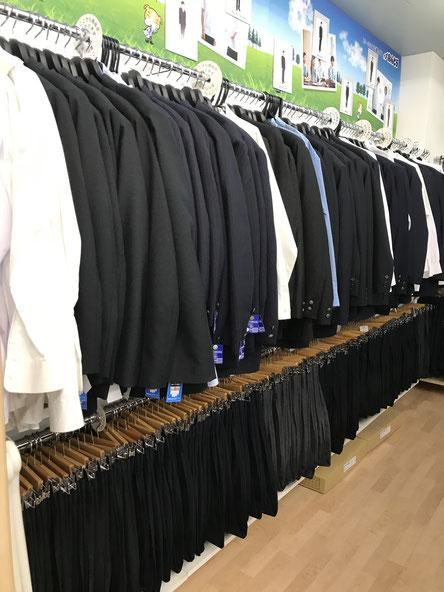 男子高校制服売り場
