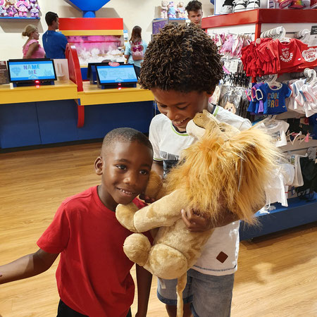 Build a bear, stem in knuffel, knuffel, lion king