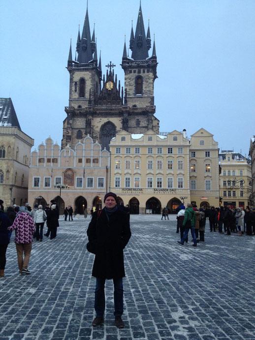 Prag, Altstadt, Teynkirche, Meridian