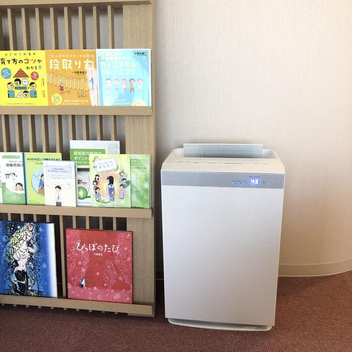 京都市下京区四条烏丸の心療内科、女医のいるメンタルクリニック、加湿器、空気清浄機