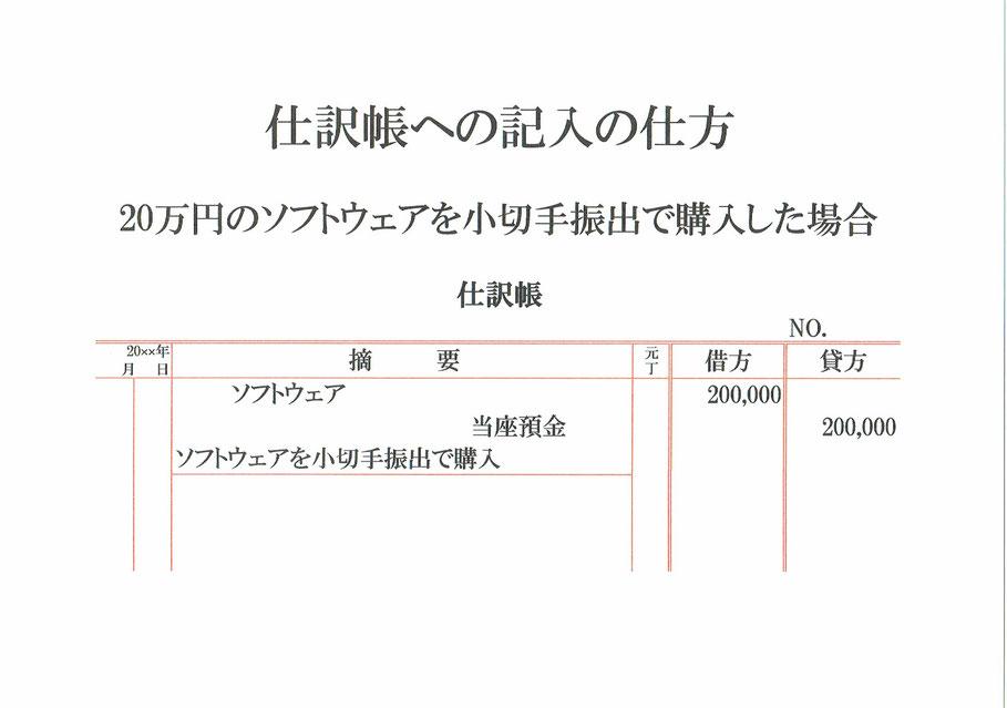 仕訳帳(ソフトウェア・当座預金)