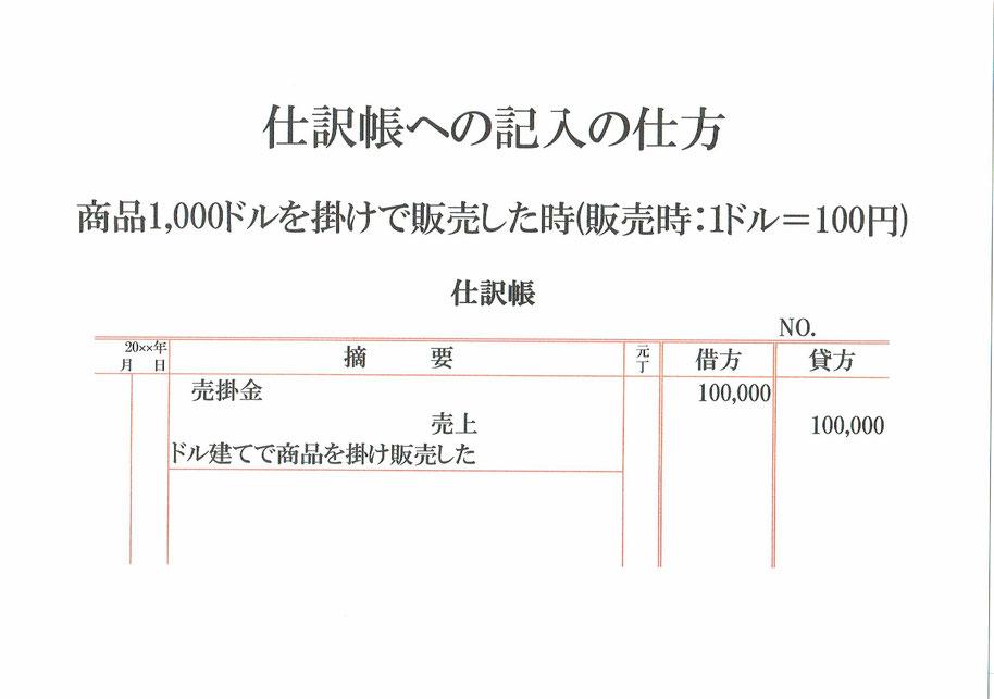 仕訳帳(売掛金・売上)