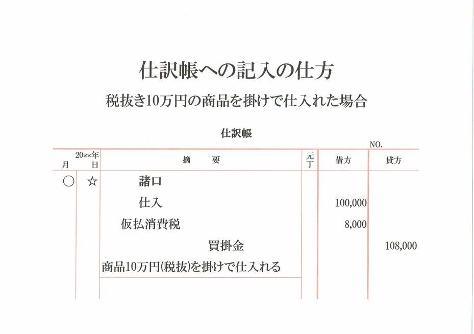 仕訳帳(仕入・消費税)