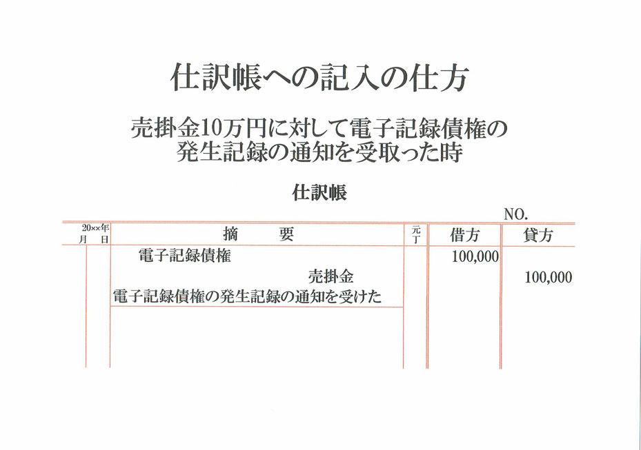 仕訳帳(電子記録債権・売掛金)