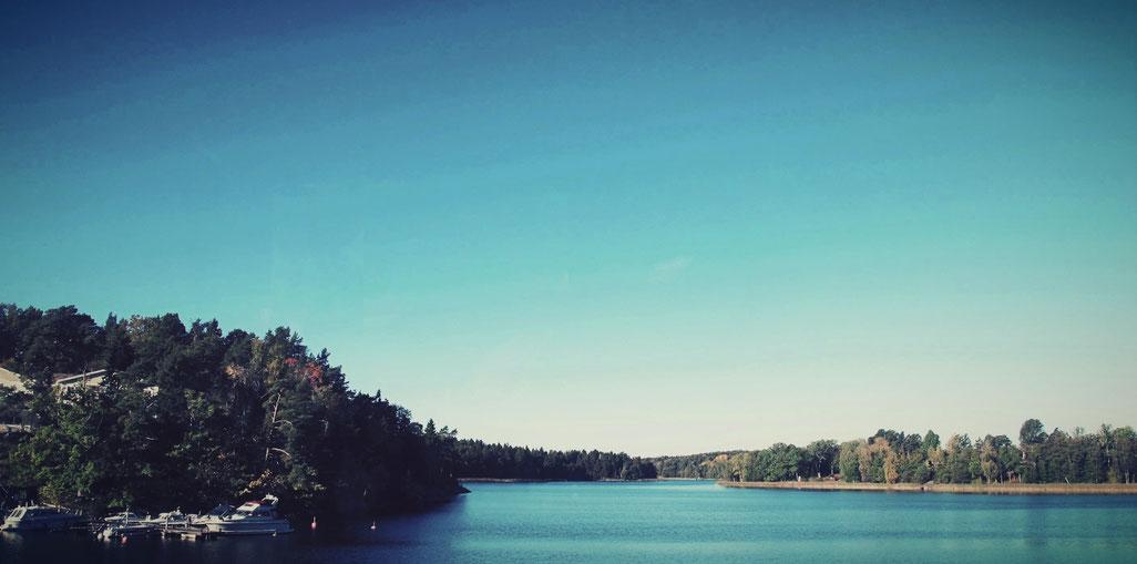 vaxholm archipel suède stockholm mer bleu ciel