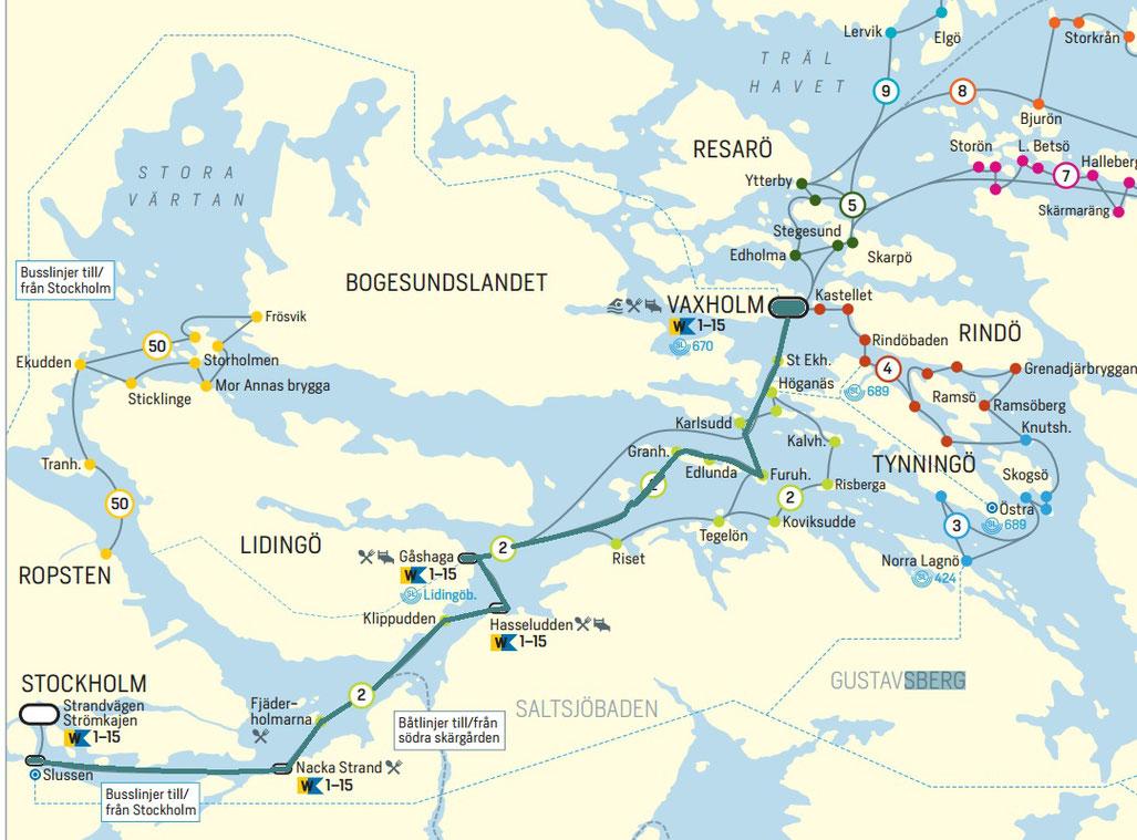 stockholm carte archipel