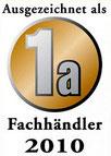 """Auszeichnung """"Fachhändler Möbel 2010"""""""