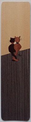 Marque-Page Chats sur palissade - 20x5cm - Atelier Eclats de bois38