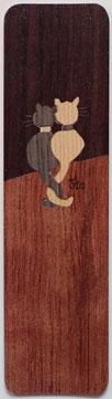 MAQ15_1501 - Marque-Page Chats sur palissade - 15x4cm - Atelier Eclats de bois38