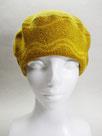 Sサイズ・ベレー帽  ~オレンジ・フラワーなライン~