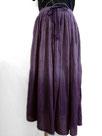 ふんわりギャザースカート  ~赤紫色裾ボカシ染~