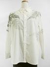 「長袖ホワイトシャツ」~羊歯の葉~