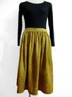 ゆったりギャザースカート  ~黄色ムラ染~
