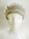 Sサイズ・ベレー帽   ~グレー・フラワーなライン~