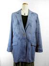 デニムジャケット  ~ムラ絞り染・青色濃淡~