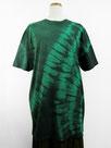 半袖ビッグTシャツ   (斜め絞り染・緑色濃淡)