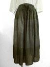 ふんわりギャザースカート  ~鶯茶色横段絞り染~