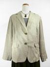 麻のサマージャケット  (絞り染・ベージュグレー色)