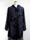 デニムパーカージャケット  ~ムラ絞り染・藍色濃淡~