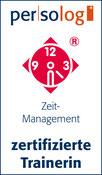 Logo Zertifizierte Trainerin Persolog Zeitmanagement