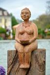 Keramik Figur, Skulptur, modelliert, bemalt
