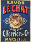 Affiche publicitaire Le Chat en 1905