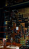 The lovely wine selection at Bistro Michel was a welcome sight in Johannesburg. Dante Harker