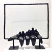 sculpture, bronze, bronze noir, pièce unique bronze