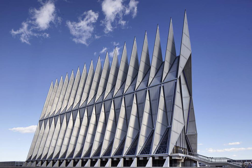 Airforce Academy Cadet Chapel, Colorado Springs, Colorado, Walter Nedsch and Skidmore, Owings, Merrill 1959-62