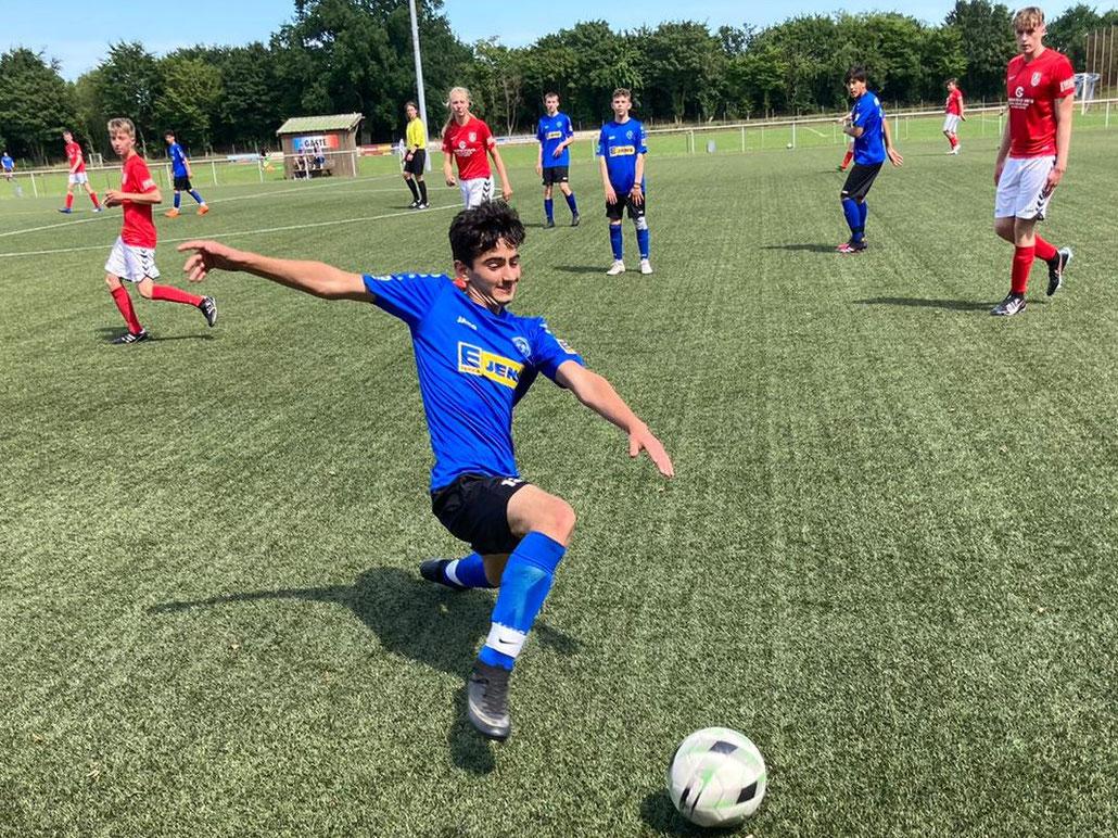 """Shivan Ahmed war mit den """"neuen"""" B-Junioren in Gleschendorf erfolgreich. Foto: S.Finke"""