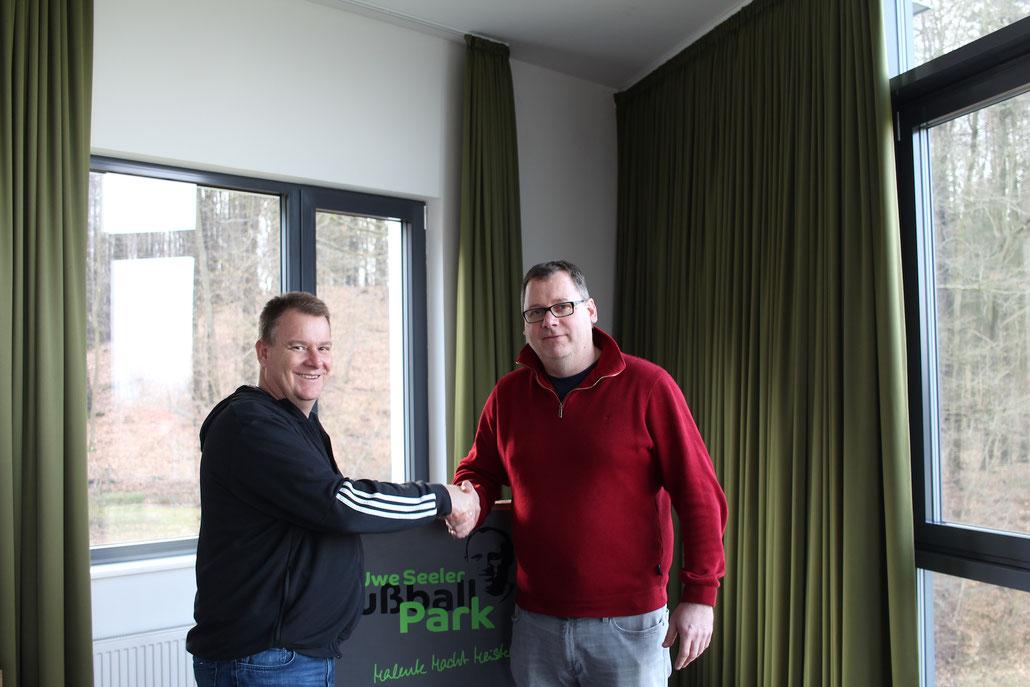 kultKIT Organisatoren Henrik Andersen und Manfred Meier (JSG Fehmarn)