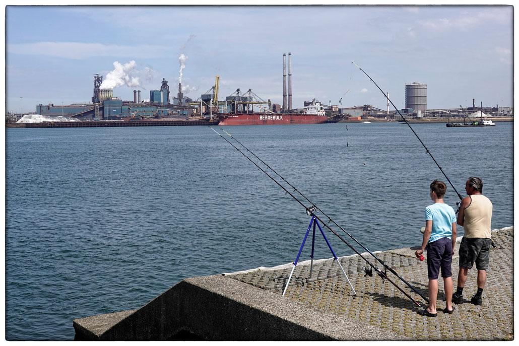 2018 - TATA-Stahlwerk im Hafen von Ijmuiden
