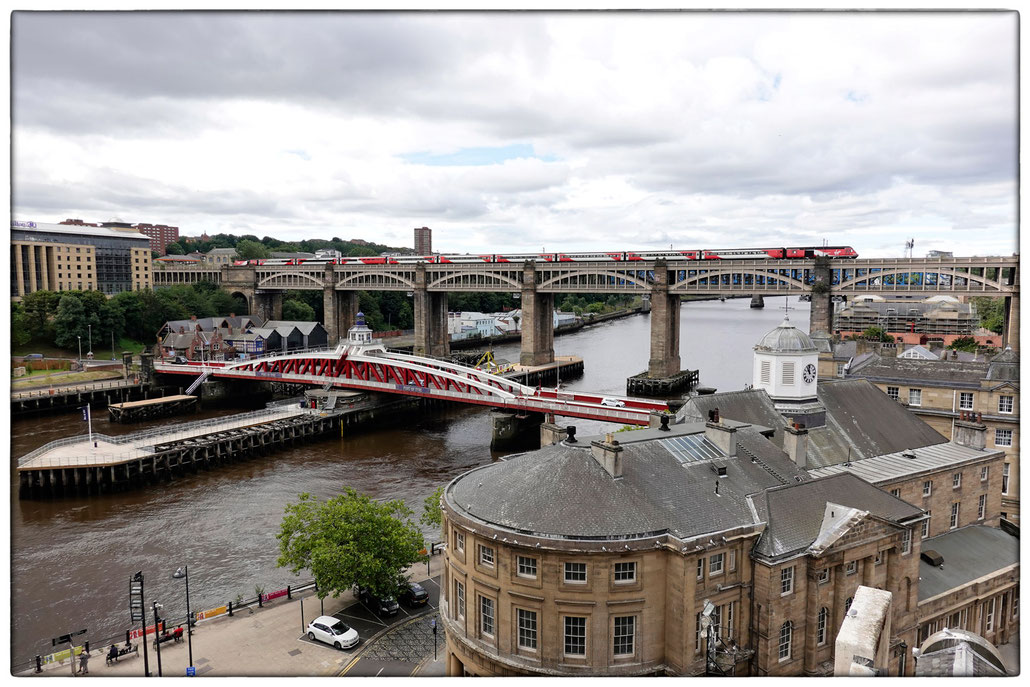 2018 - Newcastle upon Tyne, Swing Bridge und High Level Bridge