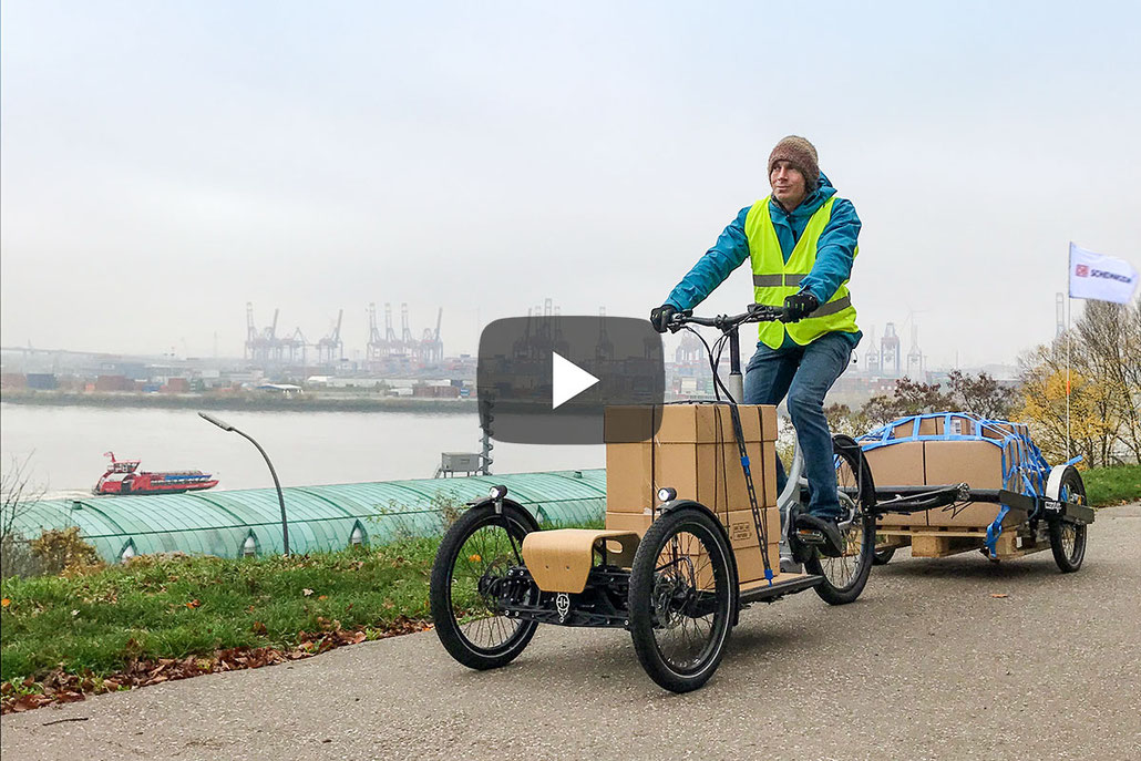 Urban logistics redefined – with e-cargo bikes over the last
