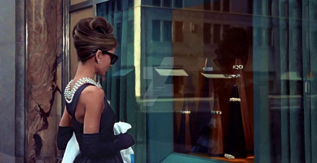 Audrey Hepburn in the Breakfast at Tiffany's